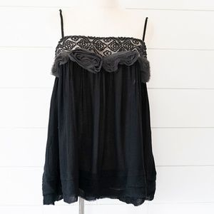 Intimately Free People Black Camisole Top L